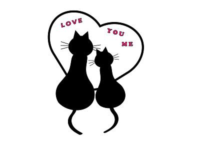 cat love 1 branding ux animation flat typography illustrator illustration graphic design design art