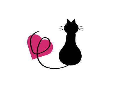 CAT LOVE 2 ux branding animation flat typography illustrator illustration graphic design design art