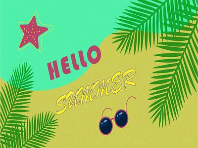 привет лето! clean minimal ux typography illustrator illustration graphic design flat design art