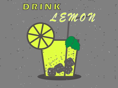 drink lemon animation vector ux typography illustrator illustration graphic design flat design art