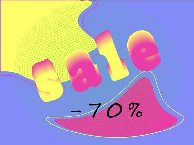 Poster sale  70 branding clean ux typography illustrator illustration graphic design flat design art