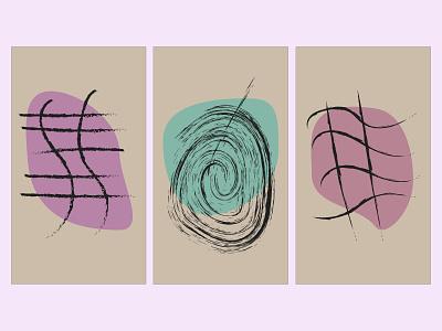 set abstract form in interior icon minimal ux typography illustrator illustration graphic design flat design art