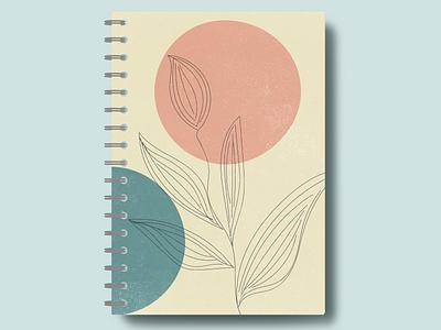 Mid Century Modern Art. Adobe Illustrator mid century mockup diary adobe illustrator notebook logo branding vector minimal illustration graphic design flat design