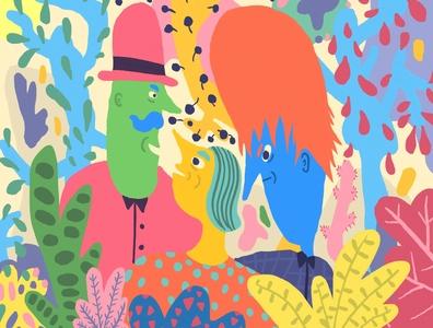 Colourful jungle drawingart drawings drawing tablet applepencil design color palette colorful illustration art illustrations psychedelic handdrawn artist procreate flat illustrator color colours illustration art