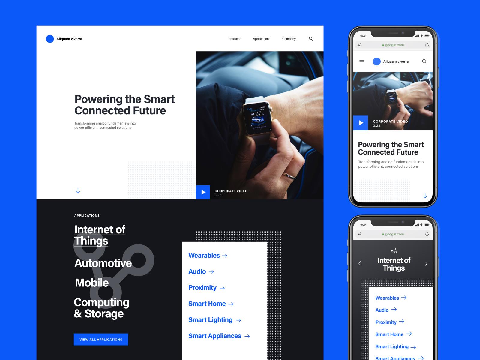 UI concept for tech brand