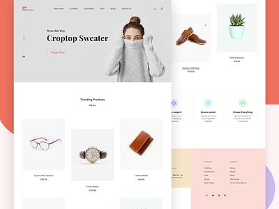 E-commerce Store react.js react app web minimal branding typography front-end development app development ecommerce flat ux webdesign ui icons interaction design interface design