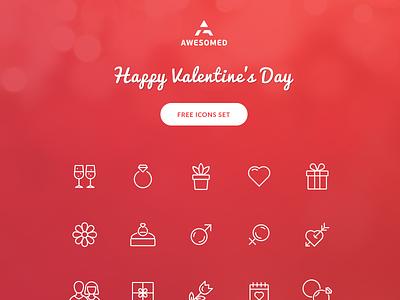 Free Valentine's day icon set happy free wedding illustration icon love valentine