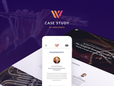 W Conservatory - Audition music portal landing page music platform website applicant student study judgement landing instruments orchestra tuition talent