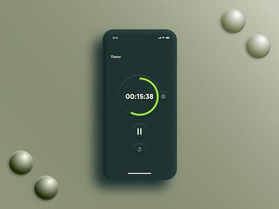 DailyUI014 - Countdown Timer neumorphic design neumorphism sketch timer app countdown timer timer countdown design ui design ui app design app mobile app mobile dailyui