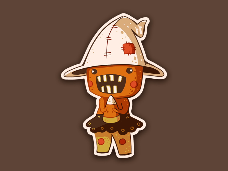 Candy Corn Creature candy spooky halloween monster candycorn stickermule