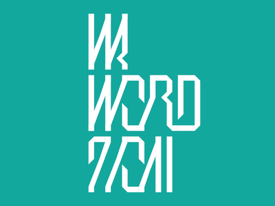 In A Word 2011 lettering ribbon wordmark conference