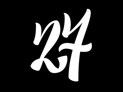 №27 lettering typebrigade