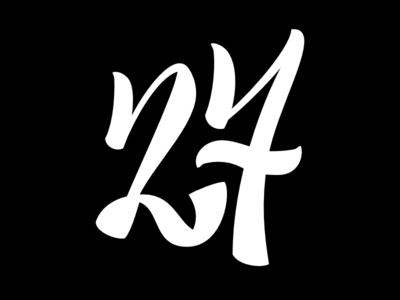 №27 typebrigade lettering
