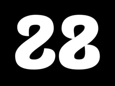 №28 numeral typebrigade lettering