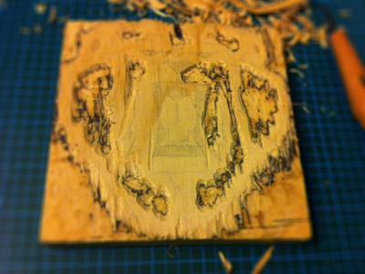 Woodcut woodcut wood handmade photo carving lion depth of field