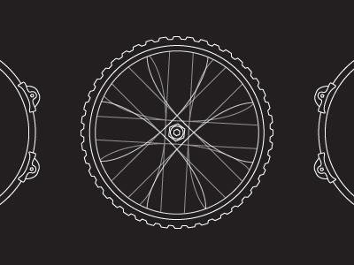 Bike-a bike tire hexagon linear vector illustration