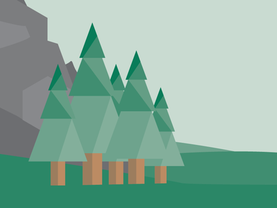 Some Trees trees forest nature illustration hexagon vector triangle