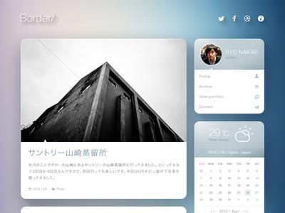 Blog Theme Concept website concept design photoshop flat web web design long shadow