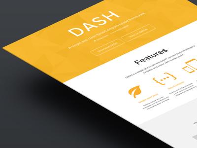 DASH landing page web web design landing page yellow website