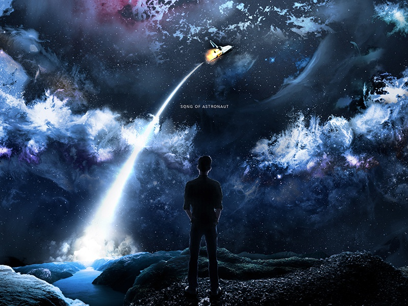 SONG OF ASTRONAUT matte painting photoshop