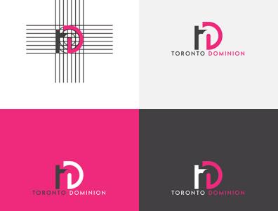 T D Letter Logo td letter logo letter logo 3d animation vector branding ui illustrator flat illustration icon design logo graphic design