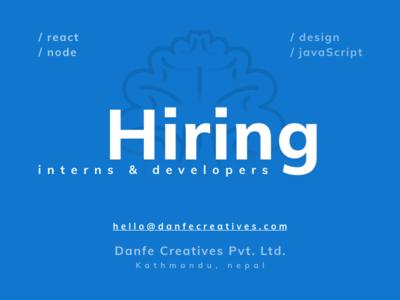 Hiring - Interns & Developers