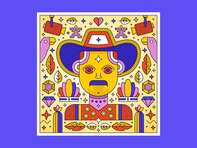 Colombian Style Illustration | Man carnival in columbia man carnival art direction vector design graphicdesign illustration south america columbia