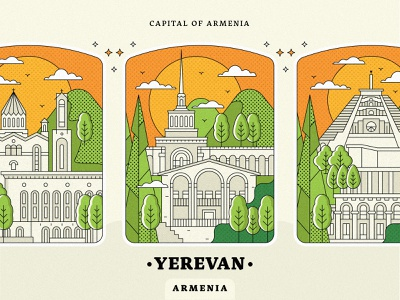 Bagdes for Yerevan church design armenian church landscape cascade architecture armenia strong city illustration town peace for armenia come to armenia yerevan illustration yerevan artwork armenia lineart vector design graphicdesign illustration