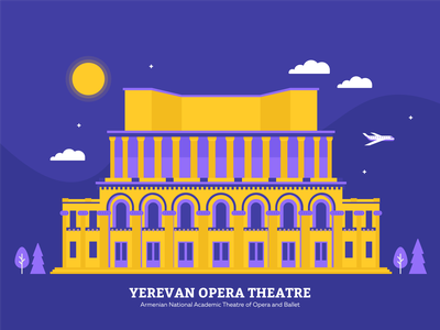 Yerevan Opera Theatre landmark come to armenia ballet building opera opera house yerevan armenia vector design graphicdesign illustration