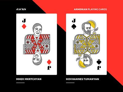 Armenian Playing Cards | Jacks jack mher mkrtchyan hovhannes tumanyan armenian playing cards packaging character design art direction armenia artwork vector design graphicdesign illustration