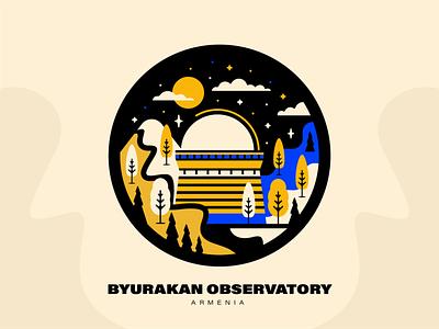 Byurakan Observatory | Armenia observatory architecture come to armenia peace for armenia landmark byurakan armenia vector design graphicdesign illustration