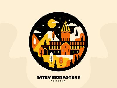 Tatev Monastery | Armenia come to armenia peace for armenia landmark tatev armenia architecture armenian architecture tatev monastery artwork vector design graphicdesign illustration