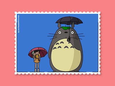 Totoro / Stamps collection ghibli my neighbor totoro anime totoro design lineart artwork sticker studioghibli illustration stamps