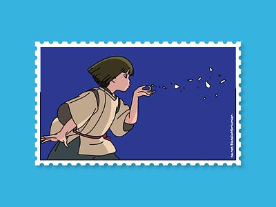 Spirited Away / Haku / Stamps collection ghibli anime haku spiritedaway stamps design lineart sticker studioghibli illustration