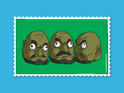 Spitited away / 3 heads / Stamps collection anime spiritedaway graphicdesign stamps design lineart artwork sticker ghibli studioghibli illustration