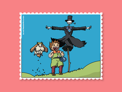 Howl's moving castle / Stamps collection anime howl howlmovingcastle graphicdesign stamps design lineart sticker ghibli studioghibli illustration