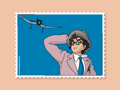 The wind rises / Stamps collection ghibli anime thewindrises graphicdesign stamps design lineart artwork sticker studioghibli illustration