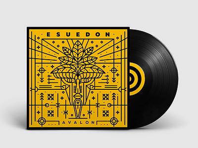 Cover design for armenian techno group Esuedon design graphicdesign vectorart vector lineartillustration lineart artwork cover music coverdesign