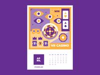 Calendar for Vivaro | April