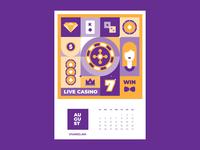 Calendar for Vivaro | August