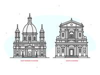 Rome | line illustrations