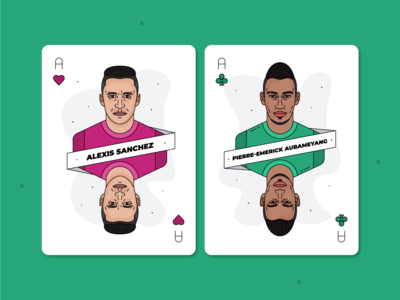 Alexis Sanchez & Pierre-Emerick Aubameyang / Playing Cards