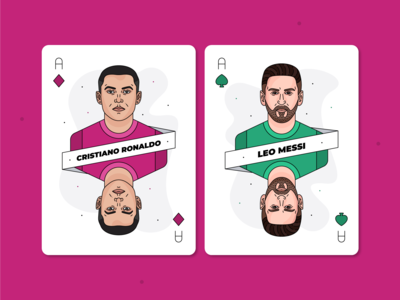 Cristiano Ronaldo & Lionel Messi / Playing Cards