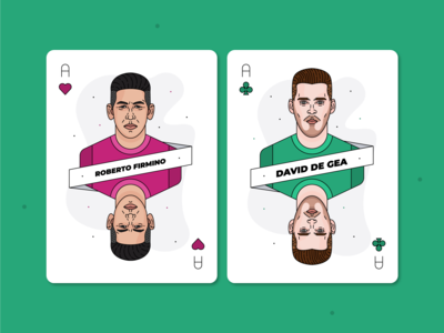 Roberto Firmino & David de Gea / Playing Cards
