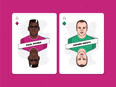 Paul Pogba & Andrés Iniesta / Playing Cards