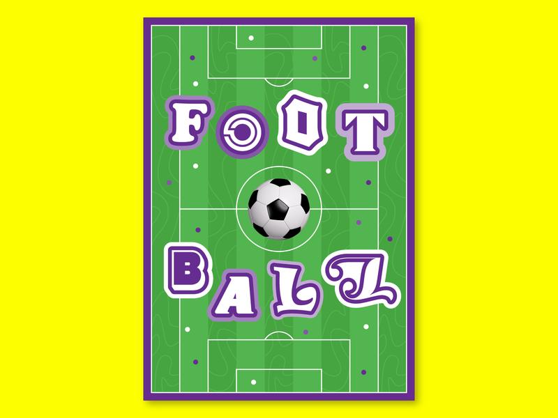 Football poster design sportposter sport stadium illustrations illustraion colors design graphicdesign collage poster football