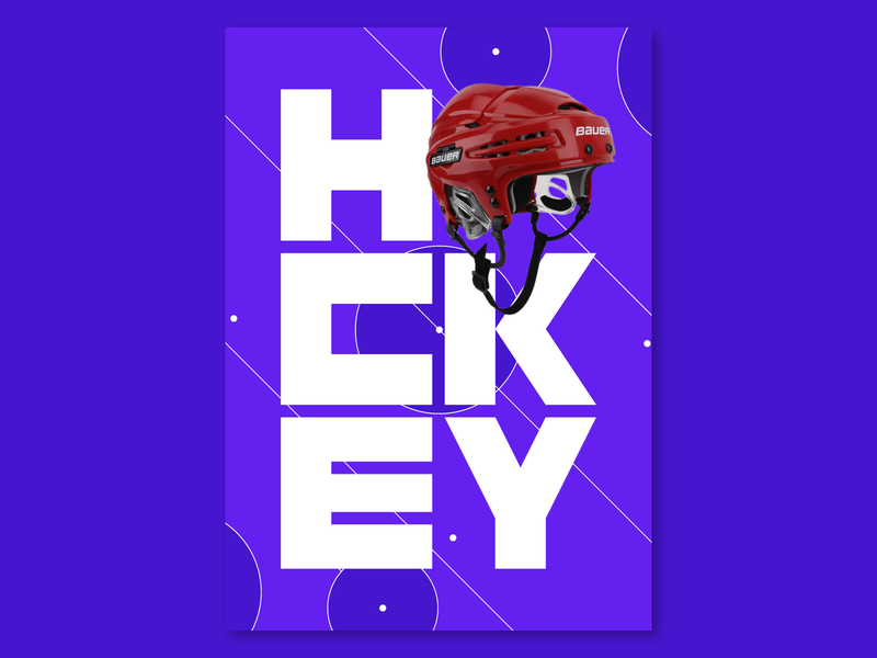 Hockey neon light experiment poster a day sport poster sport design graphicdesign poster design poster hockey
