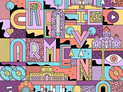 "Poster design for ""Creative Armenia"" abstract poster design poster art direction line lineart graphicdesign illustration design armenia creative armenia creative"