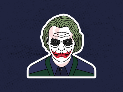 Joker | Heath Ledger vector design superhero smile clown the dark khight joker movie joker illustration joker heath ledger sticker graphicdesign illustration