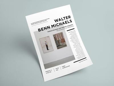 Walter Benn Michaels • MU Poster image print layout promotion poster event flyer mu mizzou walter been michaels
